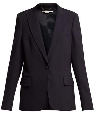 Stella McCartney Single Breasted Cady Jacket - Womens - Navy