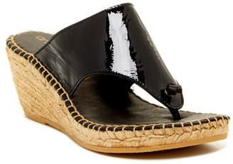 Andre Assous Alyssa Wedge Sandal $169 thestylecure.com