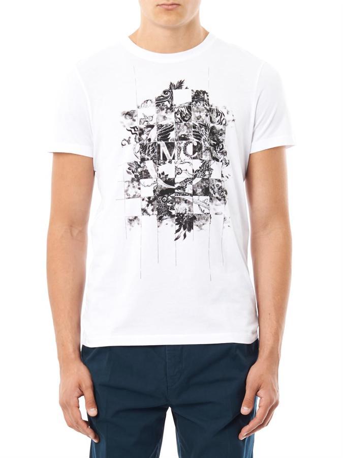 McQ Chequered logo T-shirt