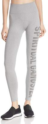 Spiritual Gangster High-Waist Heathered Logo Leggings