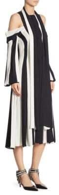Monse Cold-Shoulder Stripe Dress