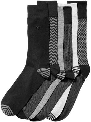 Perry Ellis Men 6-Pk. Herringbone Dress Socks