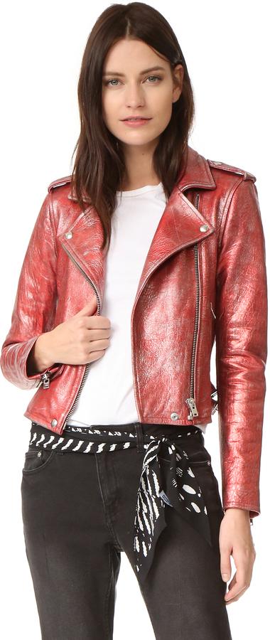 IROIRO Axelle Metallic Moto Jacket