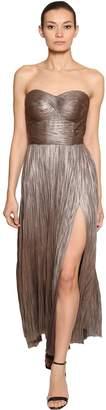 Maria Lucia Hohan Metallic Silk Tulle Dress
