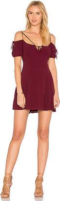 MAJORELLE Whisper Dress in Burgundy $178 thestylecure.com