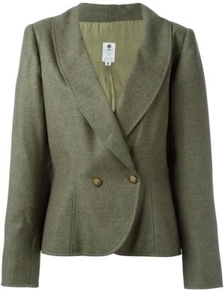 Ungaro Pre-Owned curved hem blazer