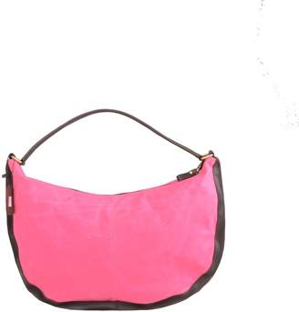 EAZO - Waxed Canvas & Leather Boho Bag in Hot Pink