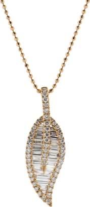Anita Ko Large Diamond Leaf Necklace