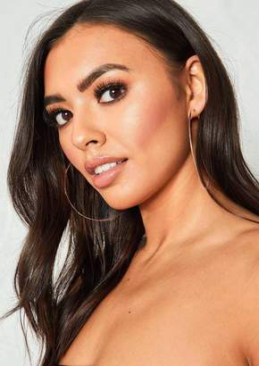 At Missy Empire Missyempire Kimberly Rose Gold Super Thin Hoop Earrings