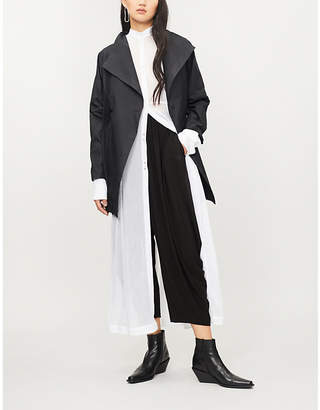 Issey Miyake Sunset contrast-panel woven coat