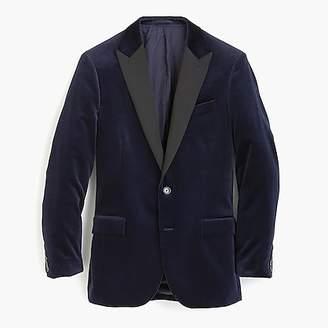 J.Crew Ludlow peak-lapel velvet blazer