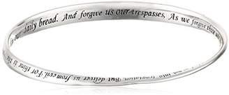 """Sterling Silver """"Lord's Prayer"""" Bangle Bracelet"""