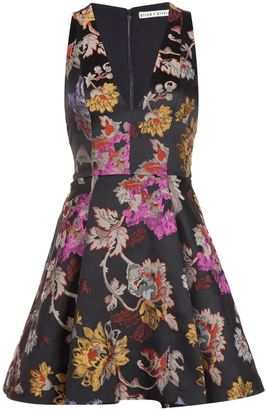 Alice+Olivia floral brocade flared cocktail dress $480.05 thestylecure.com