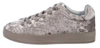 Rag & Bone Velvet Low-Top Sneakers