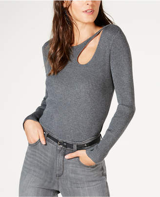INC International Concepts I.n.c. Petite Teardrop-Cutout Sweater