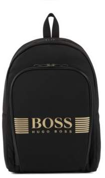 BOSS Hugo Nylon backpack statement logo detail One Size Black