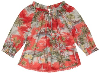 Zimmermann Kids Juliette floral cotton top