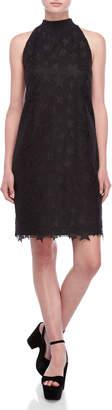 Scotch & Soda Black Star Embroidered Sleeveless Dress