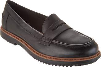 010d74fc5f8 Clarks Leather Slip-on Loafers - Raisie Eletta
