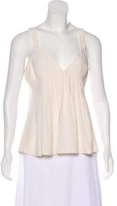 Burberry Sleeveless Silk Top