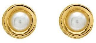 4mm Round Birthstone Stud Earrings, 14K Gold