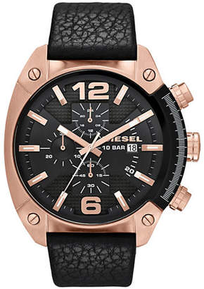 Diesel Black and Rose Gold Watch