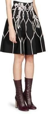 Alexander McQueen Floral A-Line Skirt