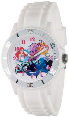 DISNEY PRINCESS Disney Princess Ariel The Little Mermaid Womens White Strap Watch-Wds000209