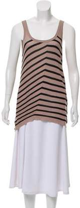 Jean-Pierre Braganza Striped Sleeveless Top