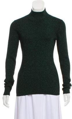 Diane von Furstenberg Metallic Mock-Neck Sweater