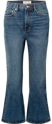Proenza Schouler Pswl Cropped High-rise Flared Jeans - Blue