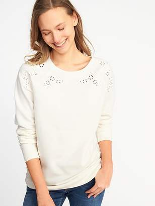 Old Navy Relaxed Vintage Cutwork Sweatshirt for Women