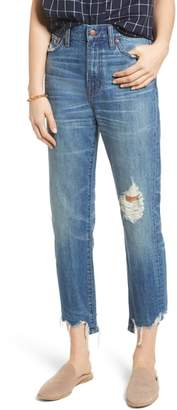 Madewell Perfect Summer Ripped High Waist Ankle Jeans