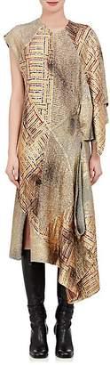 J.W.Anderson WOMEN'S MIXED-FABRIC ASYMMETRIC DRESS