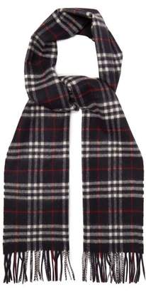 Burberry Vintage Check Cashmere Scarf - Womens - Navy