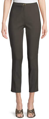 Badgley Mischka Classic Skinny Pants w/ Button Closure
