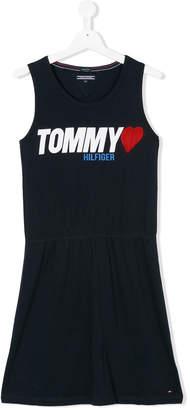 Tommy Hilfiger Junior TEEN logo jersey dress