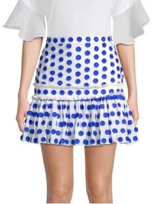 Alexis Harley Polka Dot Ruffle Mini Skirt