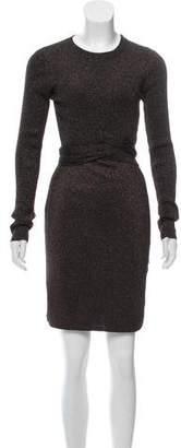 3.1 Phillip Lim Mini Metallic Bodycon Dress