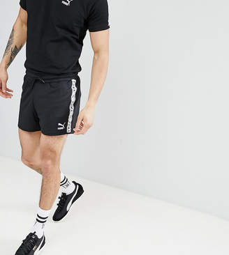 Puma shorts with taped side stripe in black Exclusive at ASOS