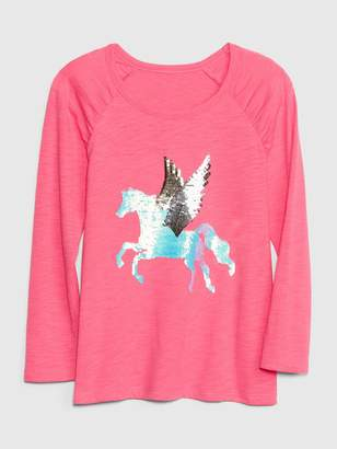 4beb3901f98 Gap Kids Flippy Sequin Graphic T-Shirt