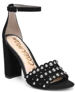 Sam Edelman Yaria Studded Leather Slingback Sandals