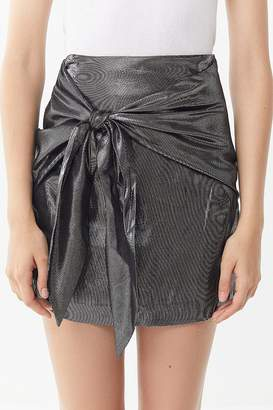 Capulet Mila Metallic Tie-Front Mini Skirt