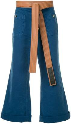 Loewe belted flared jeans