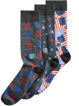 Americana (アメリカーナ) - Tall Order Men Big & Tall Americana 3-Pk. Printed Socks