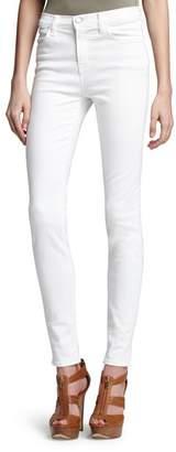 J Brand High Rise Maria Skinny Jeans in Blanc