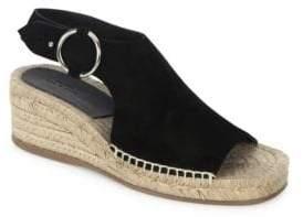 Rag & Bone Calla Leather Platform Wedge Espadrilles