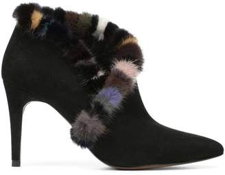 Donald J Pliner RENATA, Kid Suede and Mink Fur Bootie