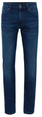 BOSS Hugo Regular-fit jeans in knitted stretch denim 38/36 Blue