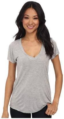 LAmade Short-Sleeve Low V-Neck Boyfriend Tee Women's Short Sleeve Pullover